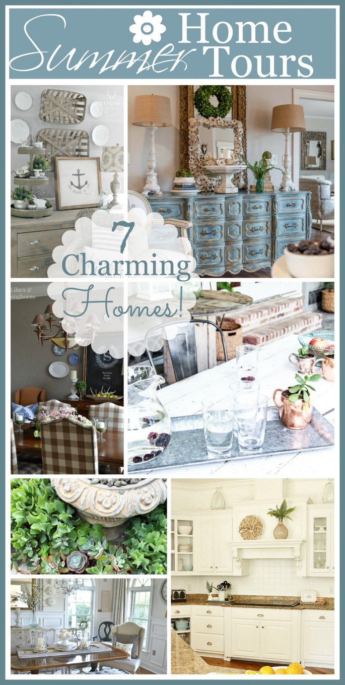 7 CHARMING HOMES ON TOUR- See summer decor at it's best! Tons of easy ideas-stonegableblog.com