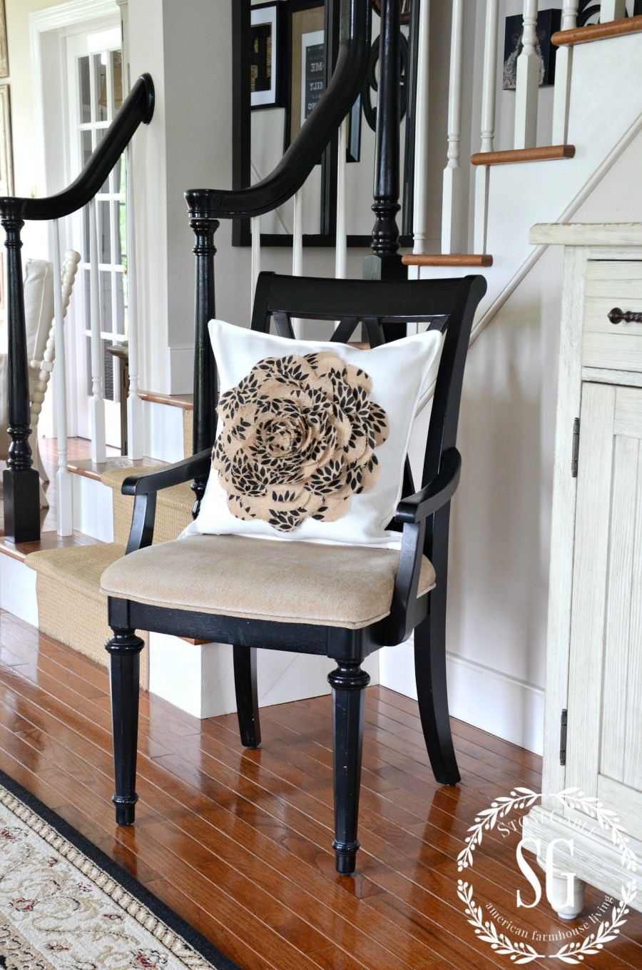 CREATING A WELCOMING FOYER-chair-foyer-stonegableblog.com