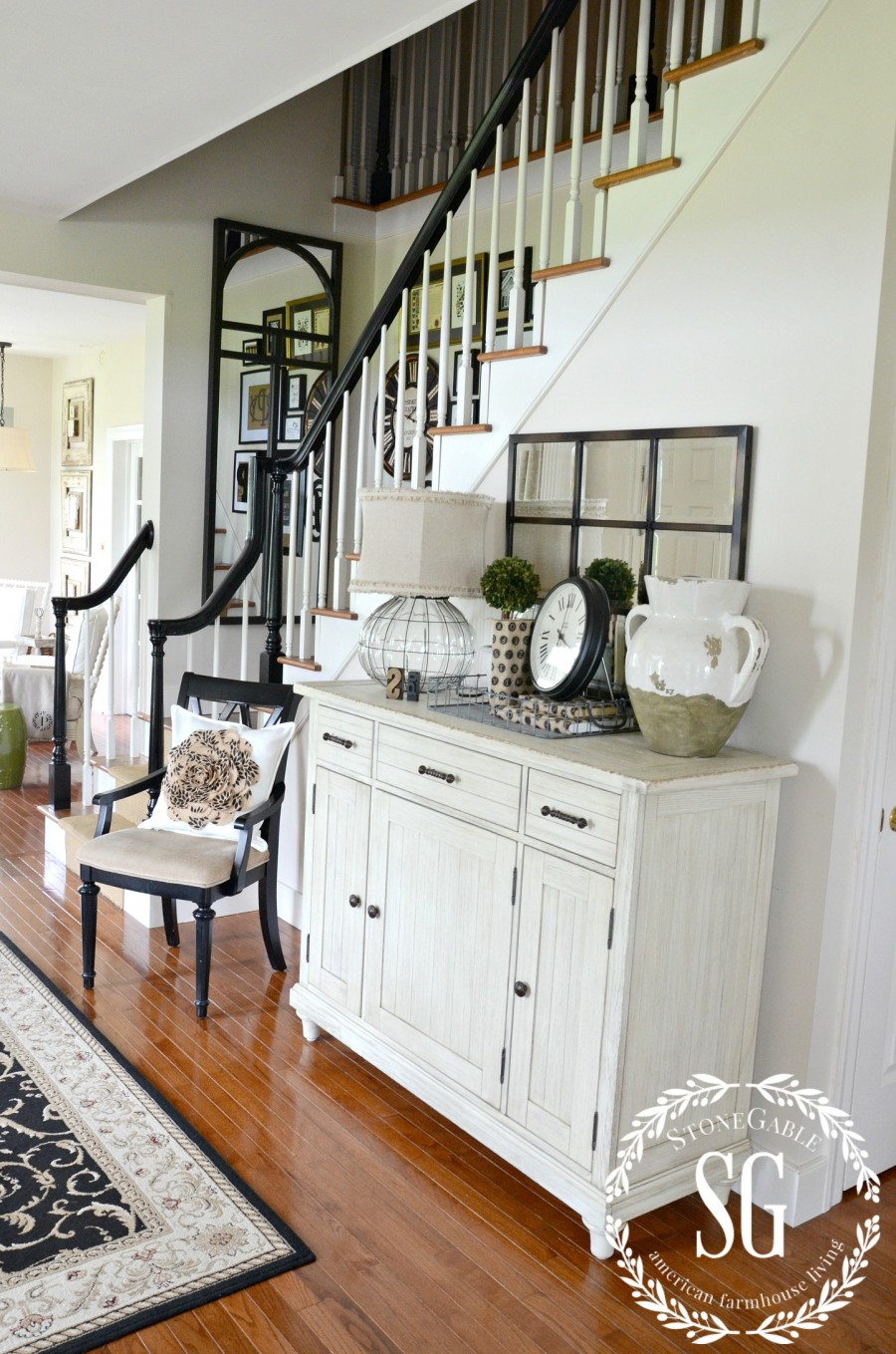 CREATING A WELCOMING FOYER-foyer cabinet-stonegableblog.com