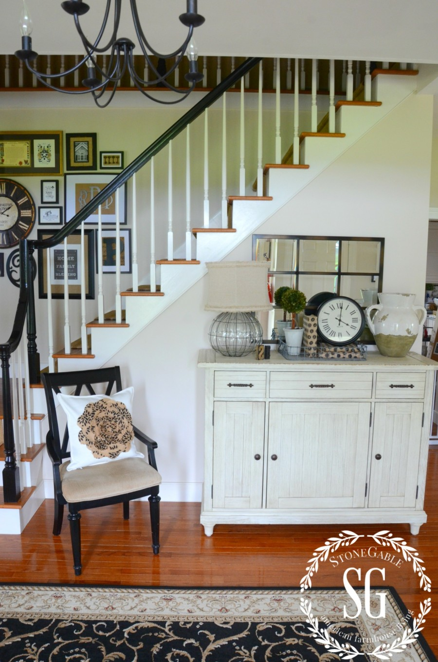 CREATING A WELCOMING FOYER-foyer from the front door-stonegableblog.com