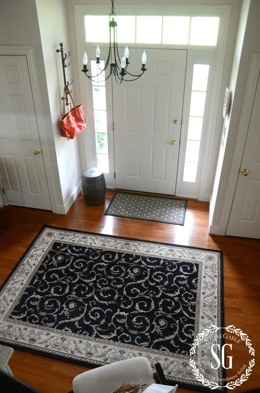 CREATING A WELCOMING FOYER-front door-chandy-stonegableblog.com