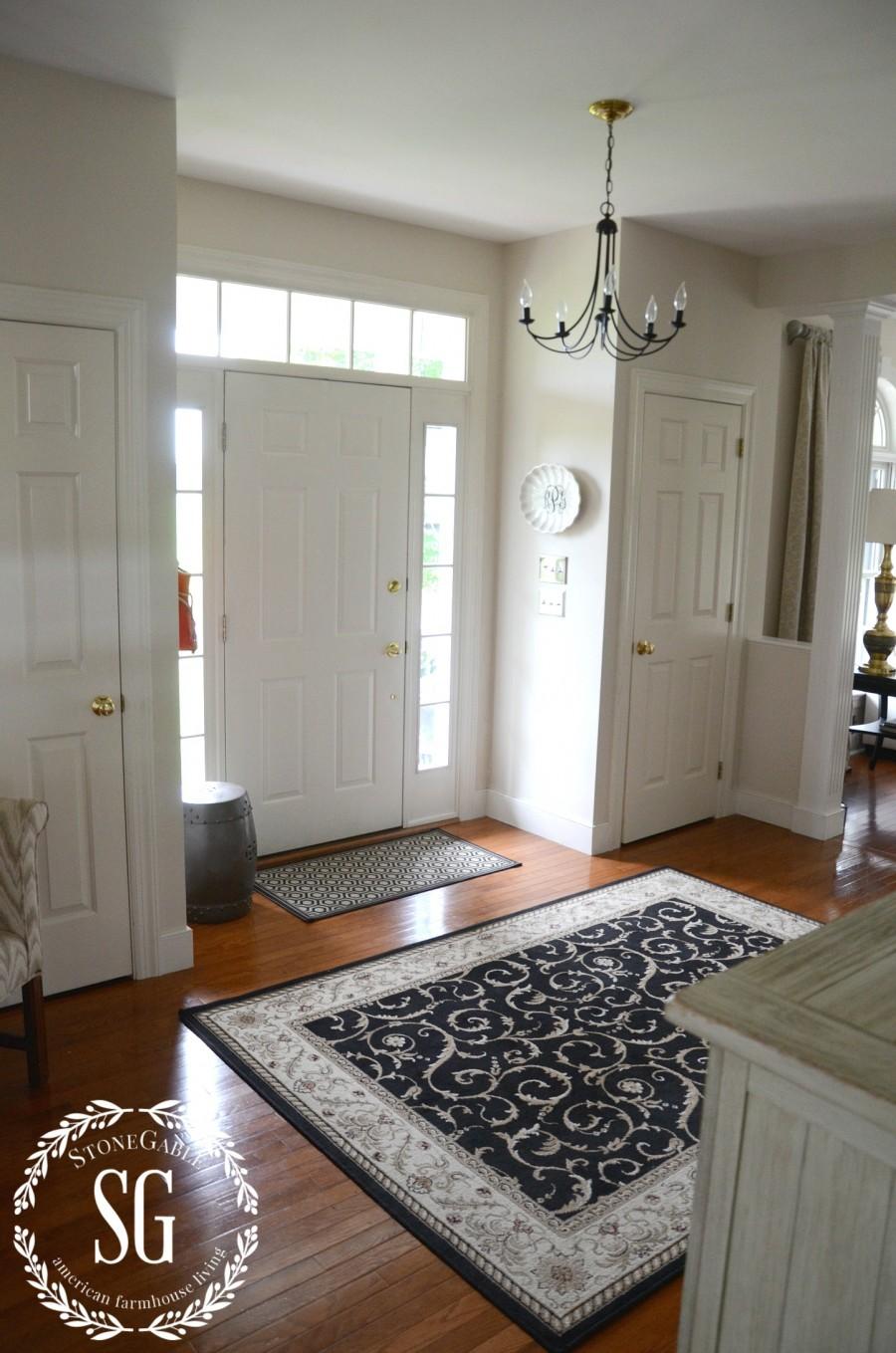 CREATING A WELCOMING FOYER-front door-stonegableblog.com