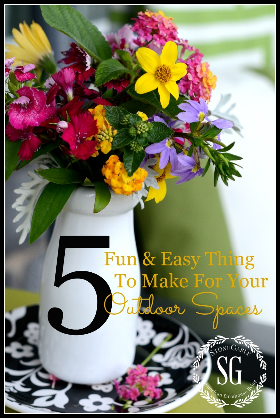 5 FUN AND EASY THINGS TO MAKE FOR YOUR OUTDOOR SPACES