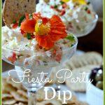 FIESTA PARTY DIP- delicious, cheesy spread-stonegableblog.com