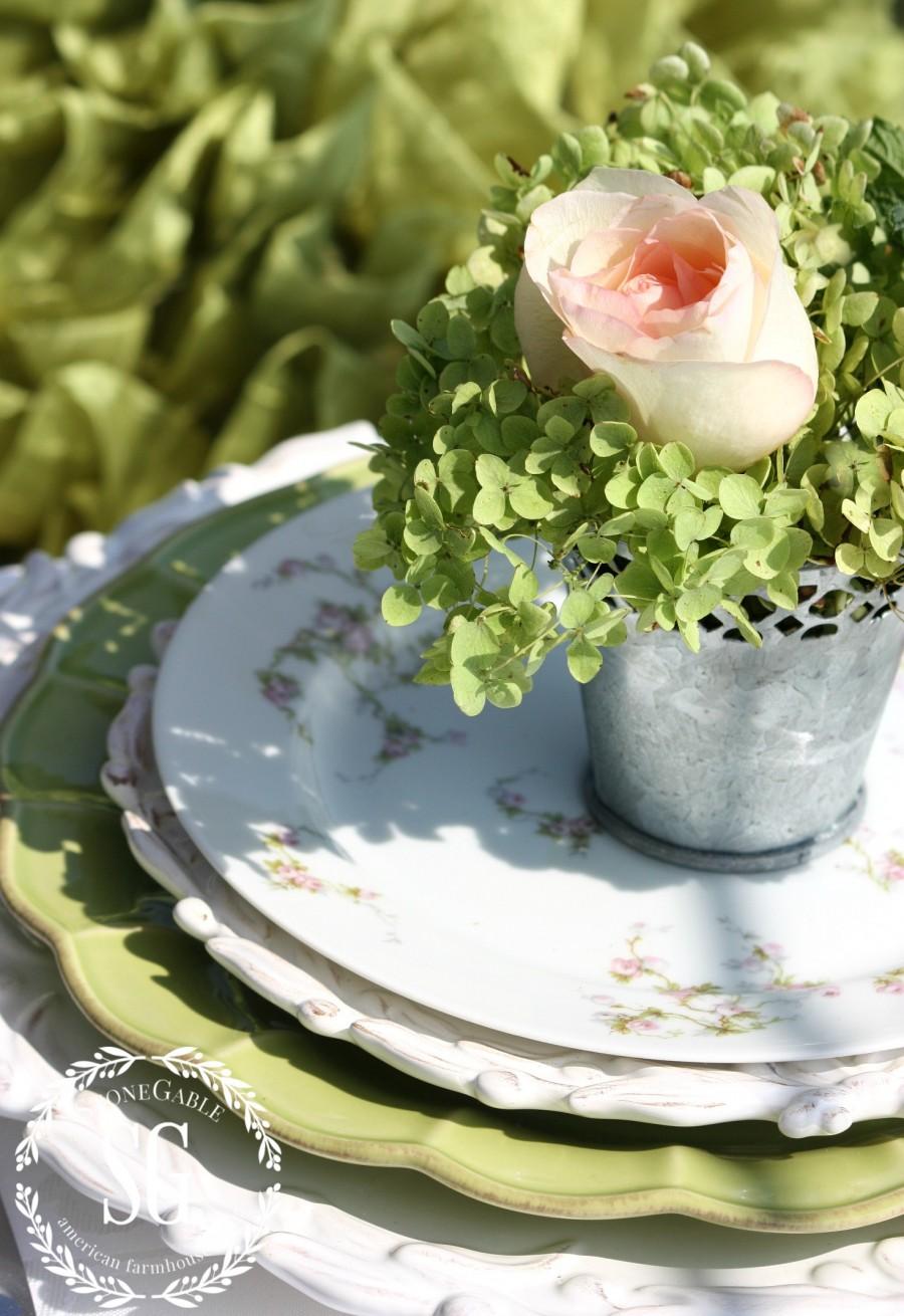 HOW TO KEEP CUT HYDRANGEAS FROM WILTING-green hydrangeas-stonegableblog.com