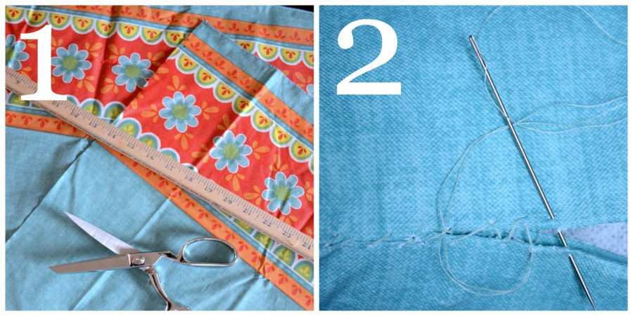 SEW EASY OUTDOOR PILLOW FROM A VINYL TABLESCLOTH-instructions- stonegableblog.com