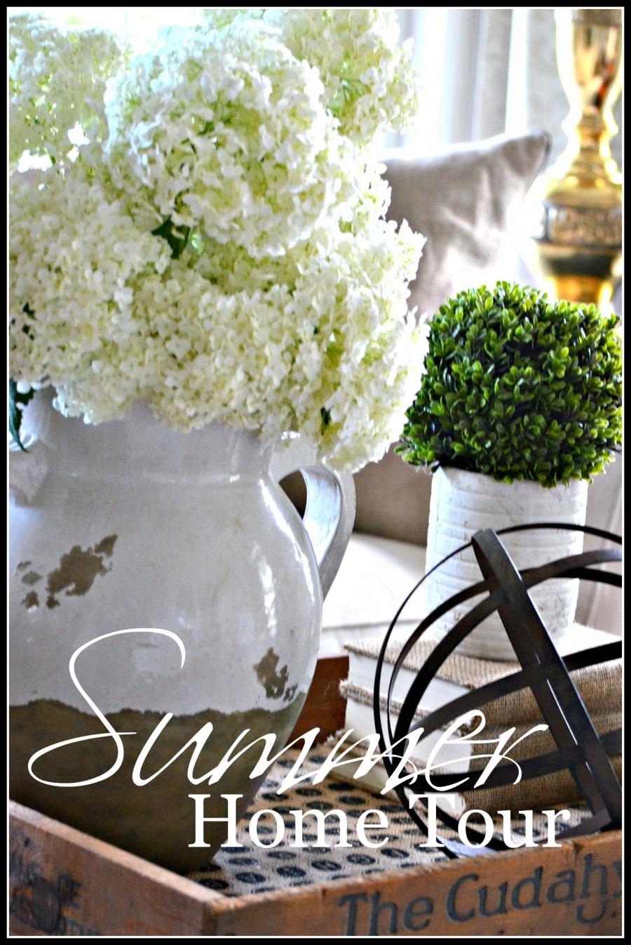 SUMMER HOME TOUR- Celebrating the beauty of summer!-stonegableblog.com