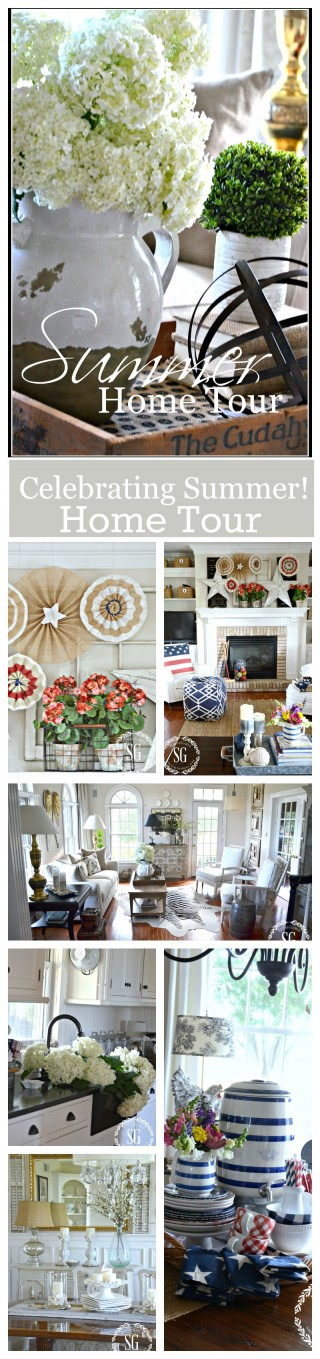 SUMMER HOME TOUR- Lots of ideas for summer decorating!-stonegableblog.com