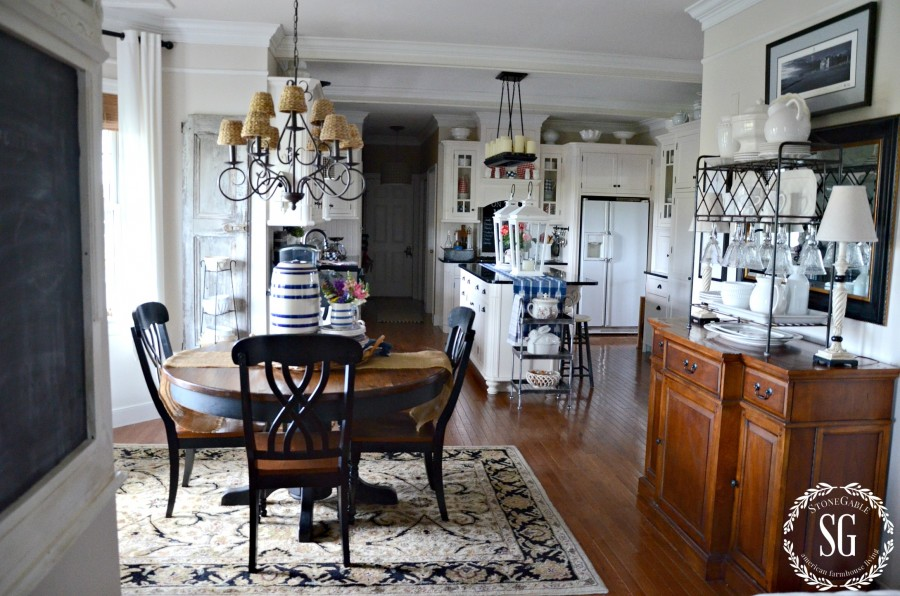 SUMMER HOME TOUR-breakfast room-kitchen-stonegableblog.com