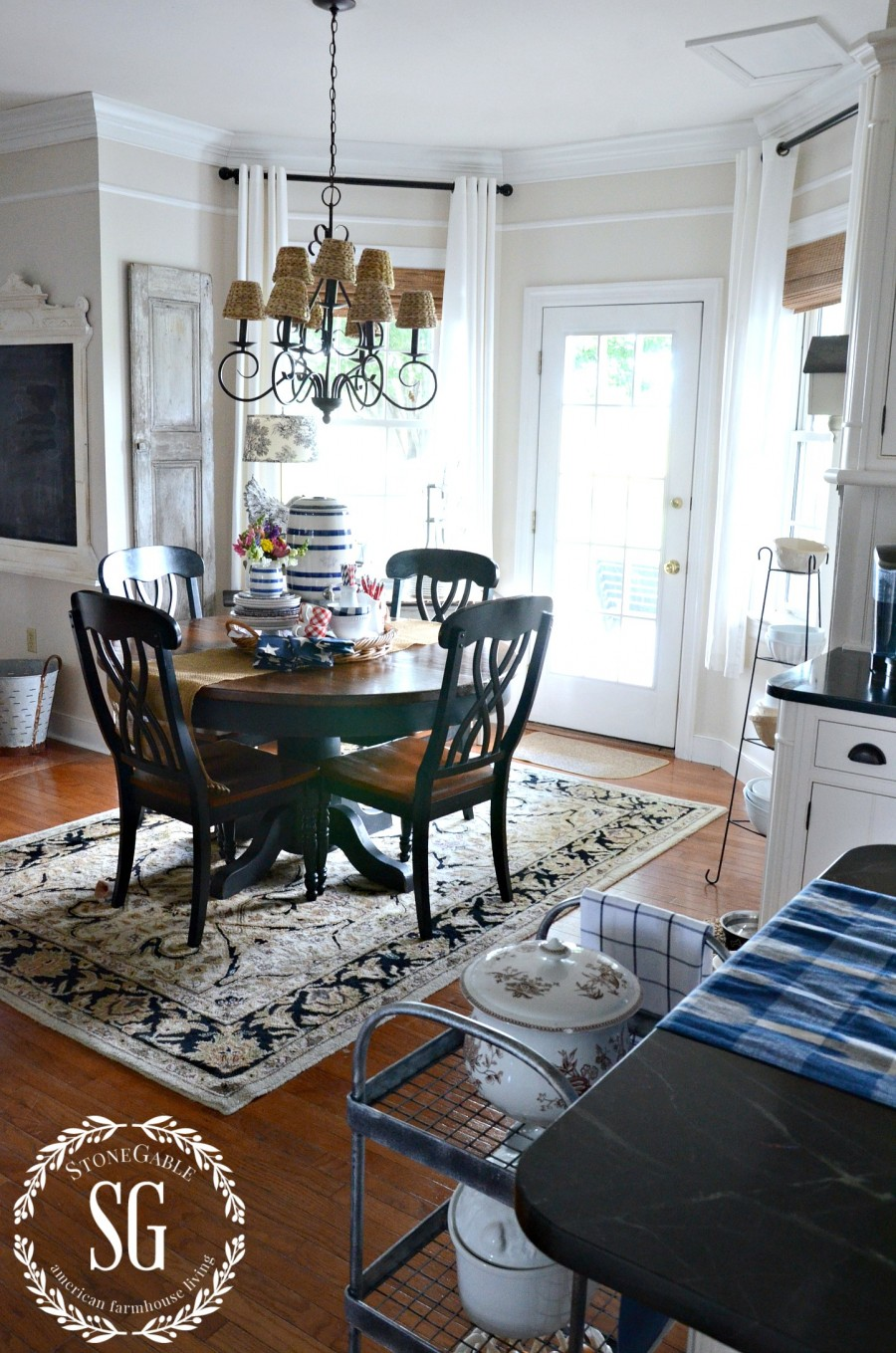 SUMMER HOME TOUR-breakfast room-stonegableblog.com