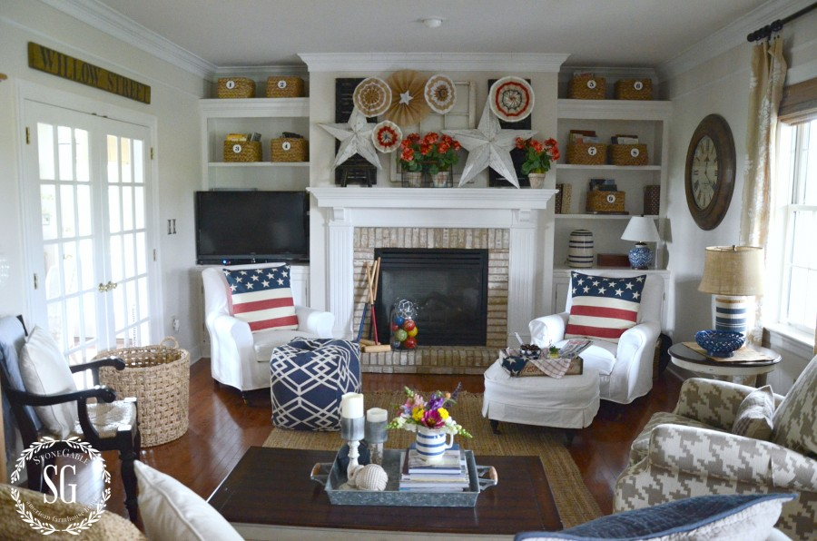 SUMMER HOME TOUR-family room-stonegableblog.com