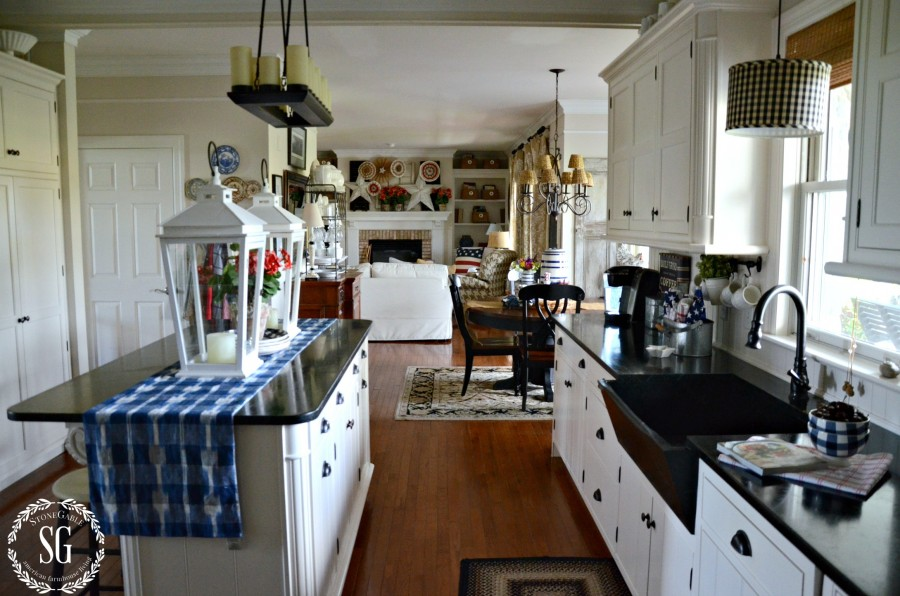 SUMMER HOME TOUR-kitchen-breakfast room-family room-stonegableblog.com