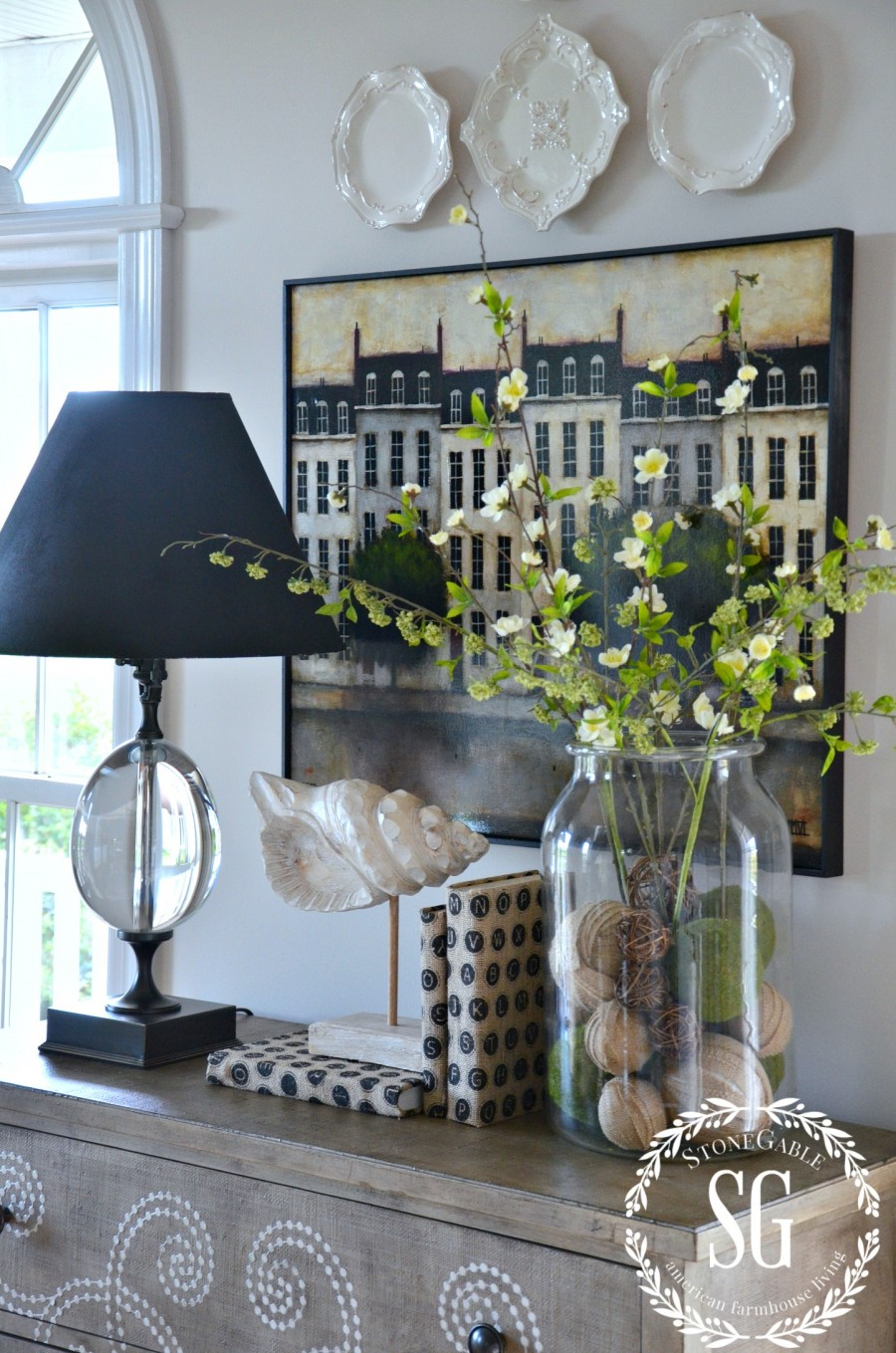 SUMMER HOME TOUR-living room-curlacue chest-stonegableblog.com