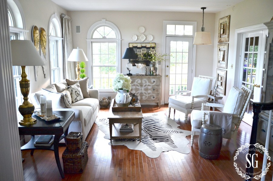 SUMMER HOME TOUR-living room-stonegableblog.com