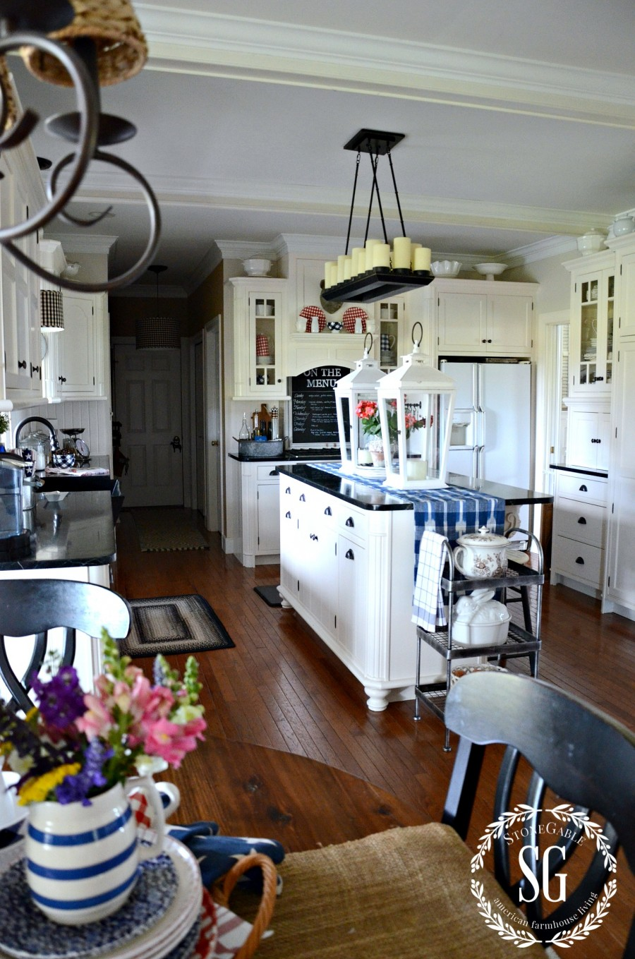 SUMMER HOME TOUR-summer kitchen-stonegableblog.com