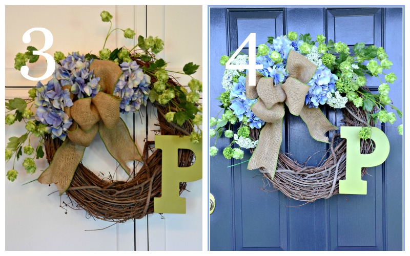 SUMMER HYDRANGEA WREATH DIY-instructions 3 and 4-stonegableblog.com