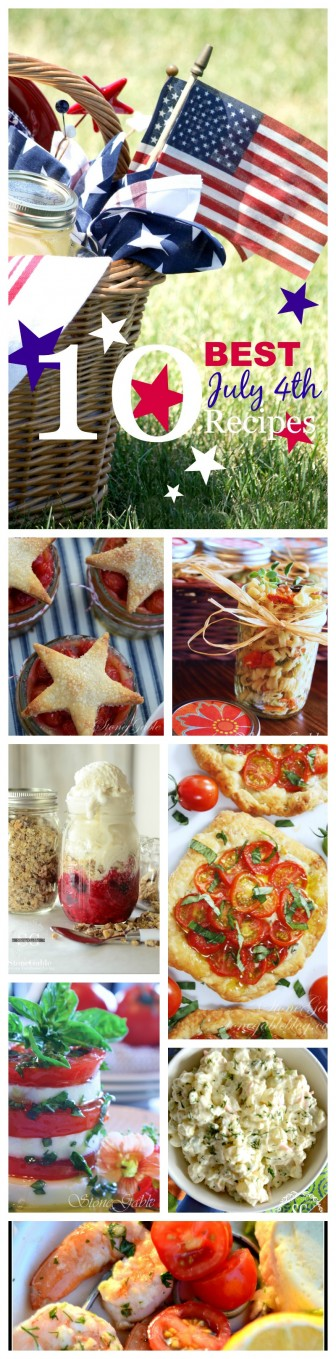 10 BEST JULY 4TH RECIPES- The best summer foods for picnics and gatherings!-stonegableblog.com