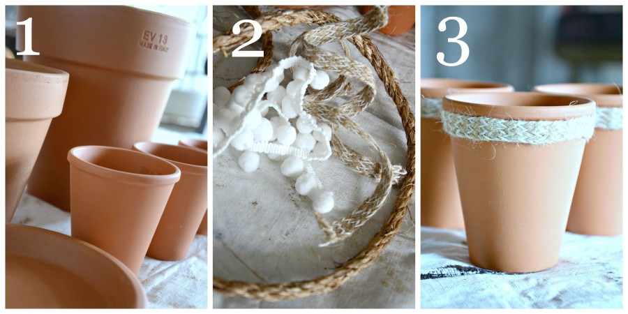 AGING TERRACOTTA POTS WITH MILK PAINT-instructions 1 to 3-stonegableblog.com