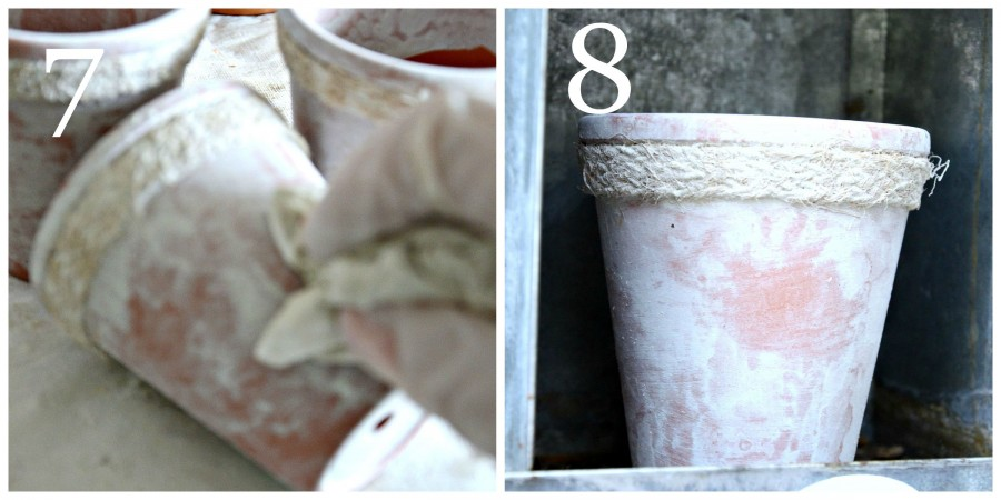 AGING TERRACOTTA POTS WITH MILK PAINT-instructions 7 to 8-stonegableblog.com