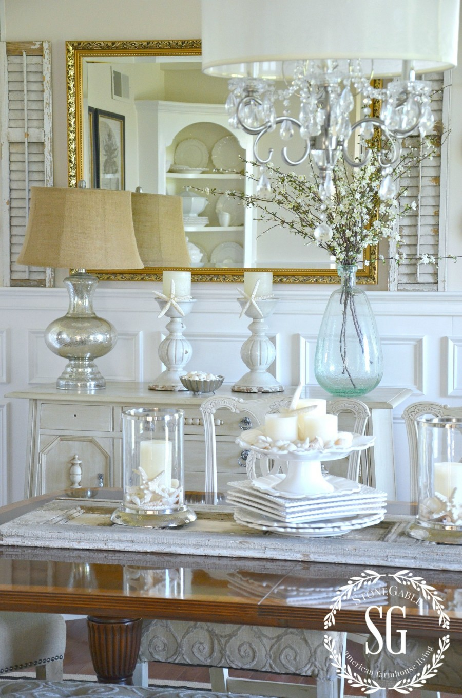 DECORATING WITH NEUTRALS-use different hues and neutral colors-stonegableblog.com