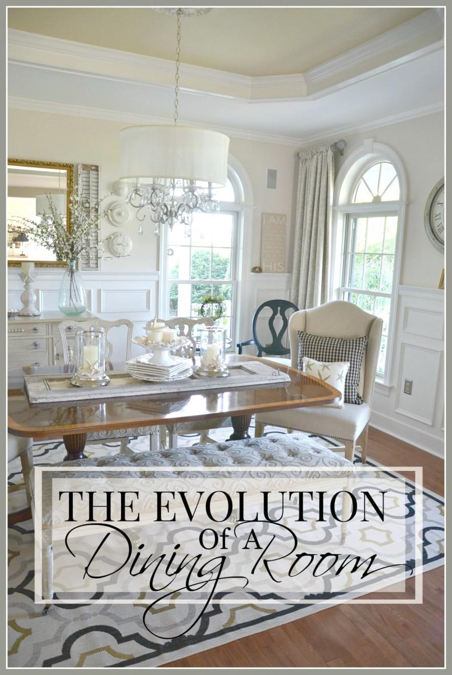 EVOLUTION OF A DINING ROOM- From gut to makeover-stonegableblog.com