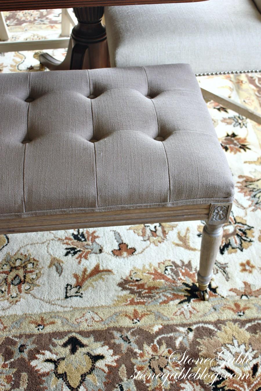 EVOLUTION OF A DINING ROOM-area rug-stonegableblog.com