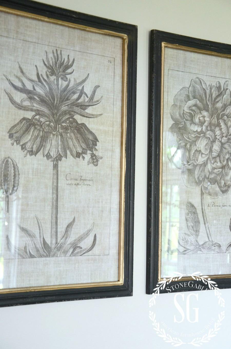 EVOLUTION OF A DINING ROOM-new botanicals-stonegableblog.com