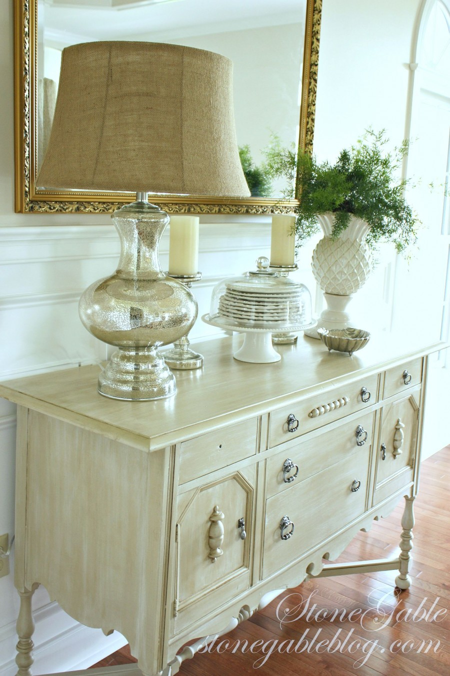 EVOLUTION OF A DINING ROOM-painted buffet-stonegableblog.com