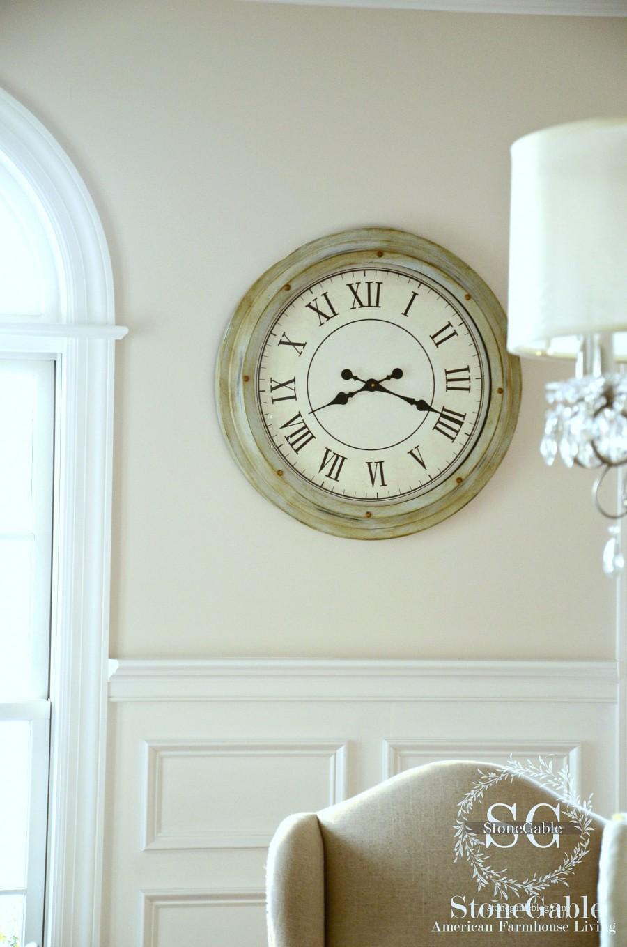 EVOLUTION OF A DINING ROOM-wall clock-stonegableblog.com
