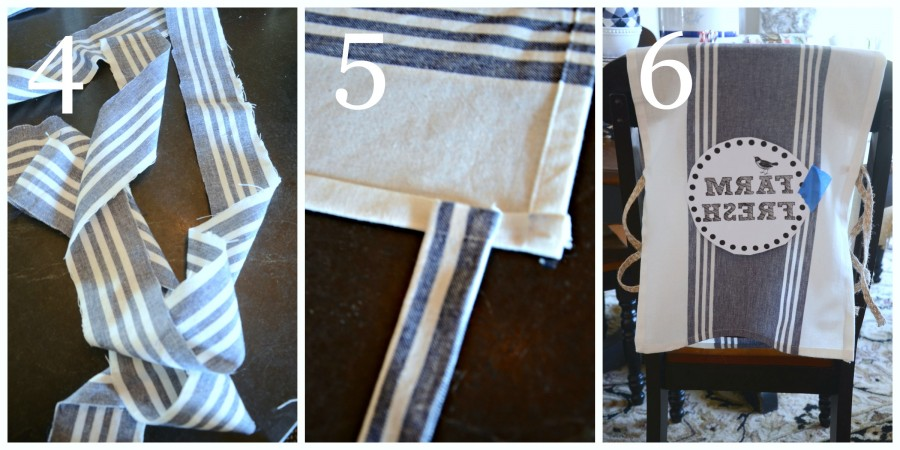 NO SEW SUMMER CHAIR BACK COVERS-instructions 4 to 6-stonegableblog.com