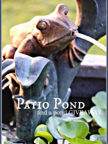 PATIO POND- a self contained pond and squirter-stonegableblog.com