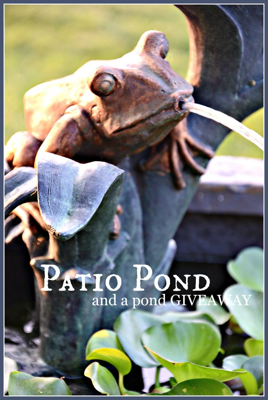 PATIO POND- a self contained pond and squirter-stonegableblog.com
