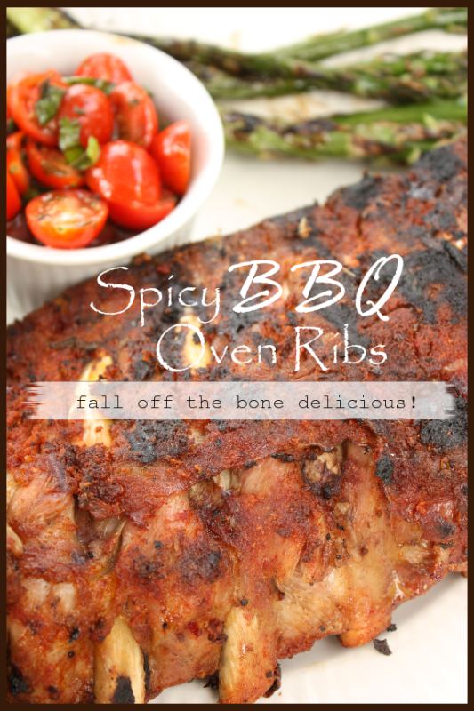 SPICY BBQ OVEN RIBS stonegableblog.com TITLE PAGE - BLOG