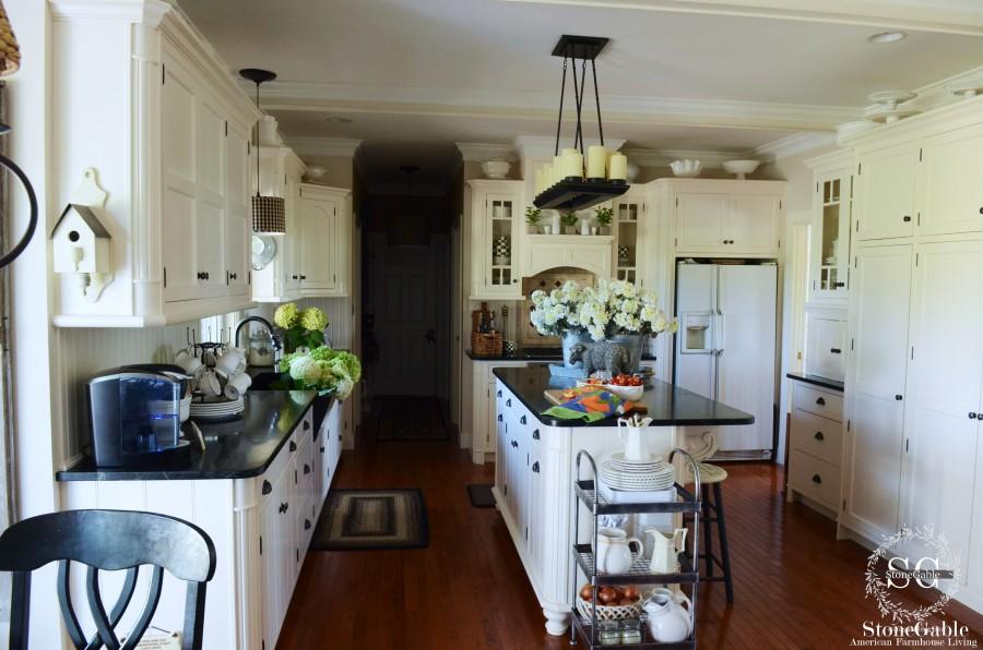 summer kitchen-full view-stonegableblog.com
