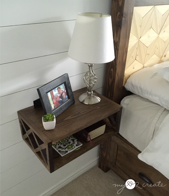 top view of floating night stands, MyLove2Create