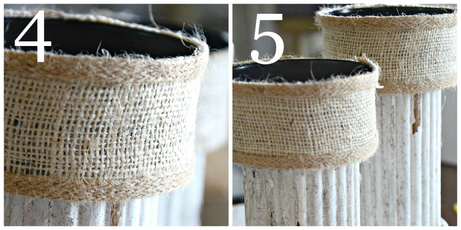 CHIPPY BURLAP CANDLESTICK DIY-instructions 4 to 5-stonegableblog.com