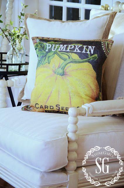 FALL PILLOWS-seed packet pillow-stonegableblog.com