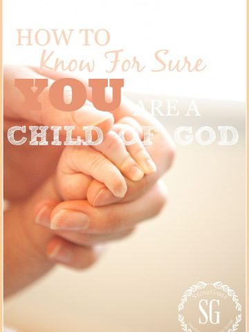 HOW TO KNOW FOR SURE YOU ARE A CHILD OF GOD-stonegableblog.com