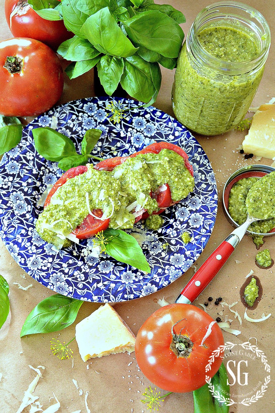 PERFECT PESTO- The taste of Summer- fresh ingredients -stonegableblog.com