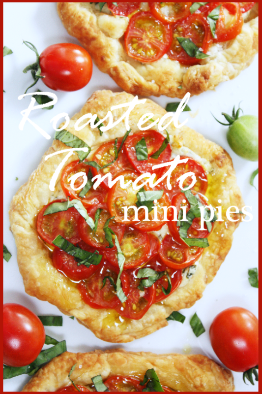 Roasted Tomato Mini PIes Title Page - BLOG