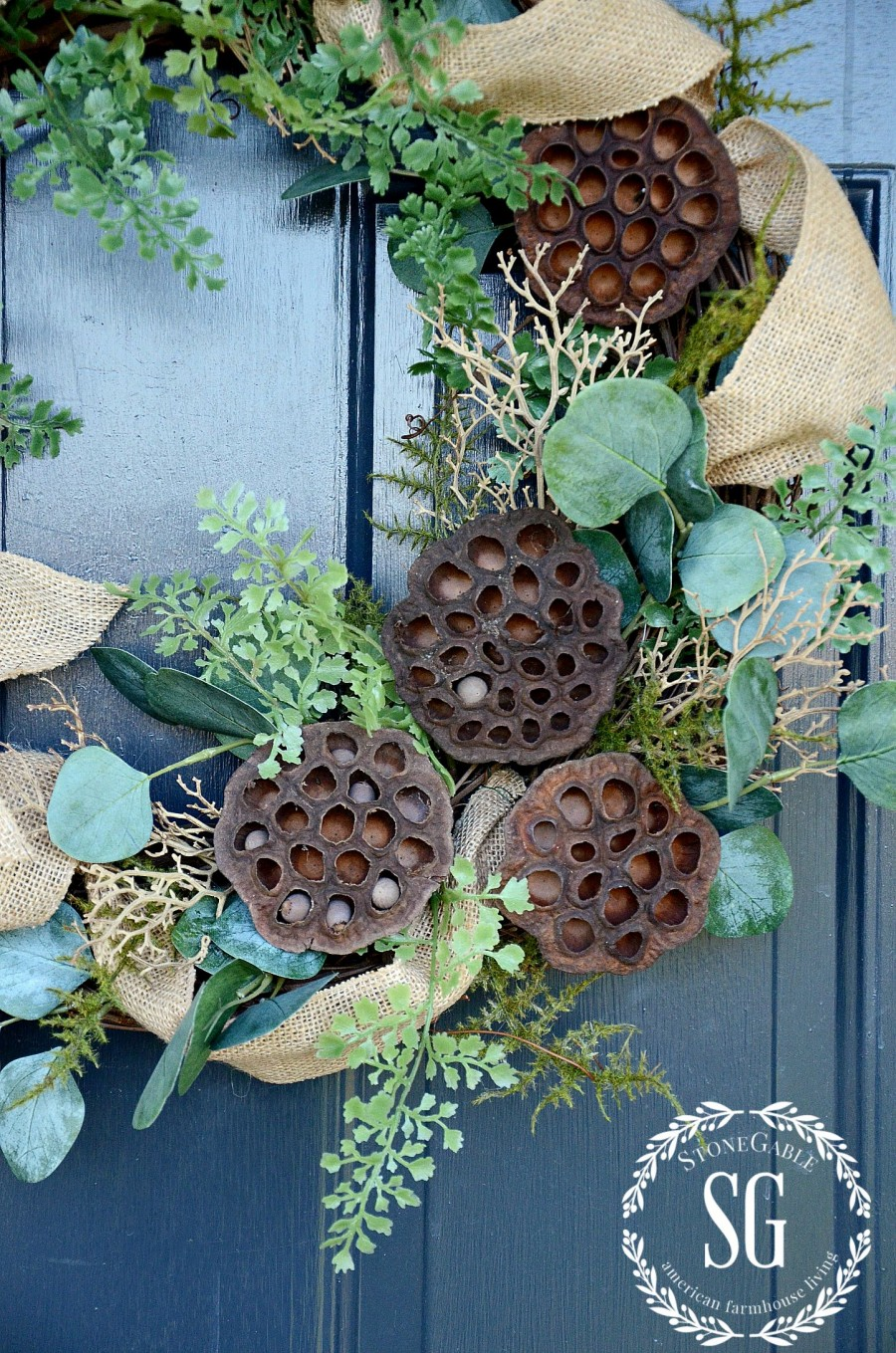 TIPS FOR KEEPING A WREATH FRONT DOOR WORTHY-stonegableblog.com