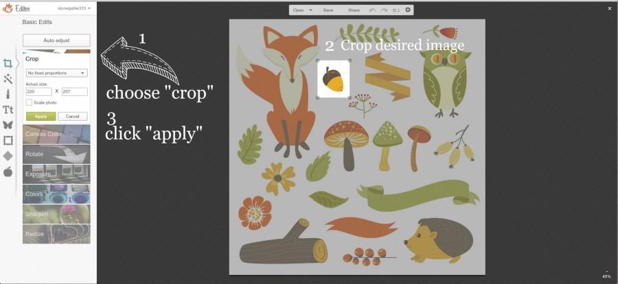 crop images