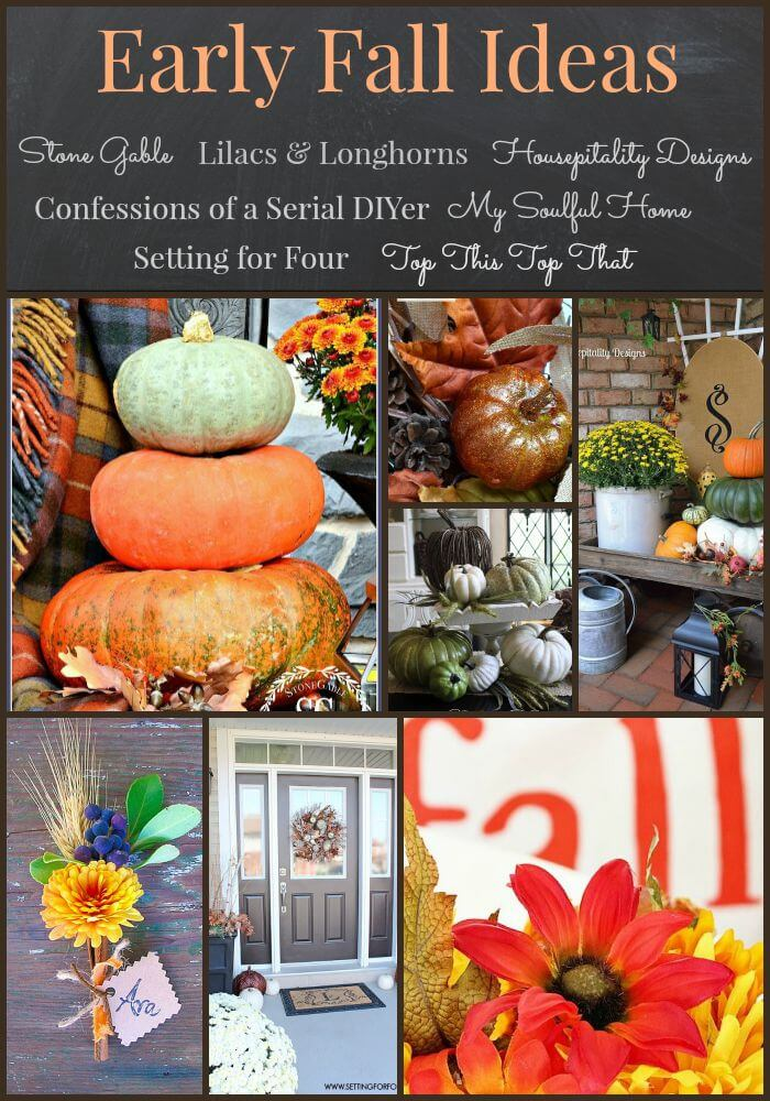 FAB FALL DECOR FROM 7 BRILLIANT BLOGGERS! Get inspiration for fall decorating from 7 decor bloggers-stonegableblog.com