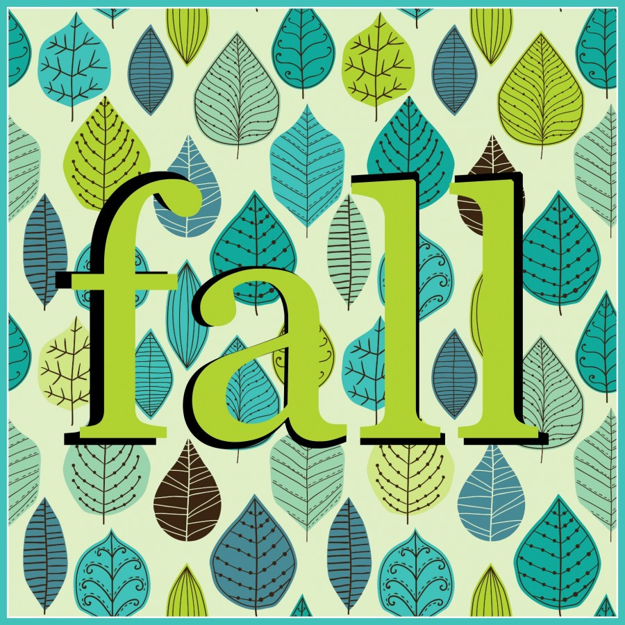 fall superimposed lettering