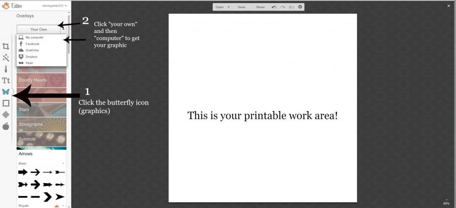 printable work area