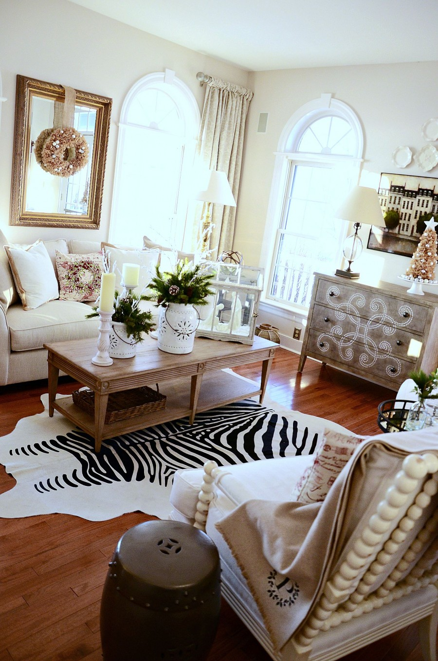 THE EVOLUTION OF A LIVING ROOM- from gut to glam- lots of inspiration-stonegableblog.com