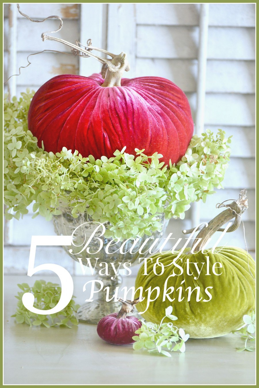 5 BEAUTIFUL WAYS TO STYLE PUMPKINS… AND AN AMAZING PUMPKIN GIVEAWAY