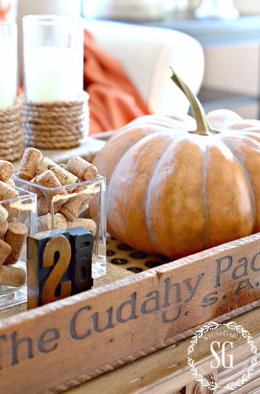 5 TIPS FOR CREATING A FABULOUS FALL VIGNETTE-Easy to pull together and will become the star of your fall decor!- stonegableblog.com