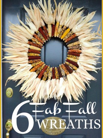 6 FAB FALL WREATHS- lots of fall ideas and inspiration-stonegableblog.com