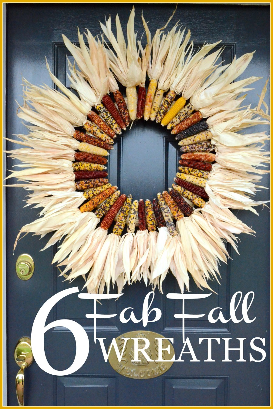 6 FAB FALL WREATHS- lots of fall ideas and inspiration-stonegableblog.com